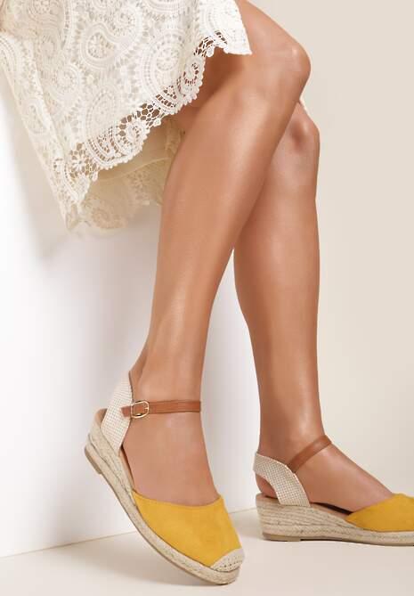 Żółte Sandały Vylanya