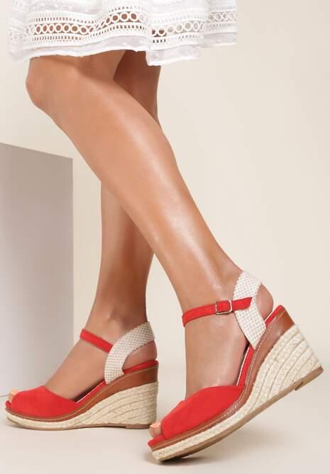 Czerwone Sandały Adradine