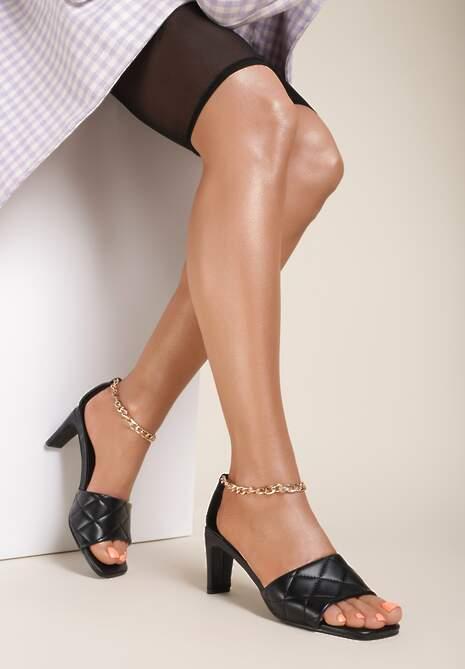 Czarne Sandały Petosine