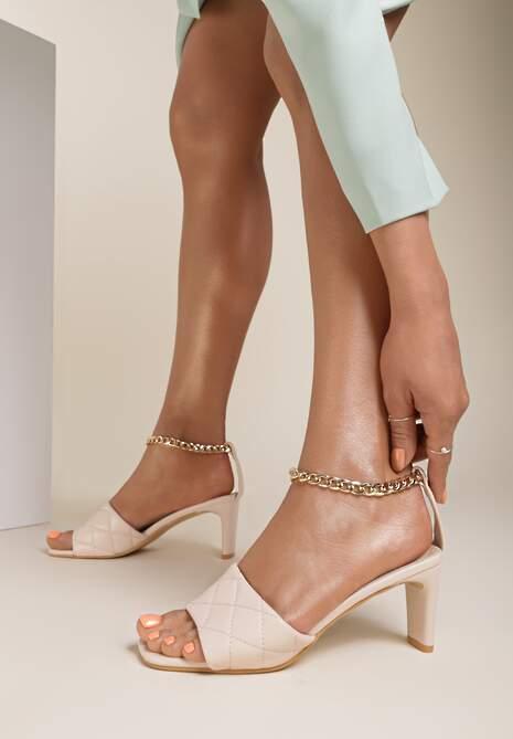 Beżowe Sandały Petosine