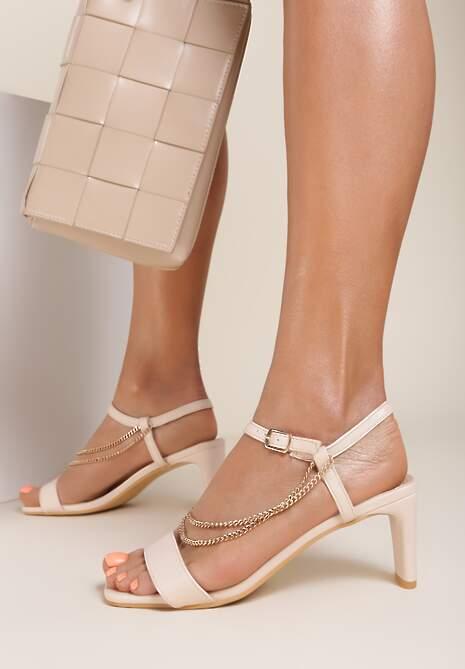 Beżowe Sandały Aegarith
