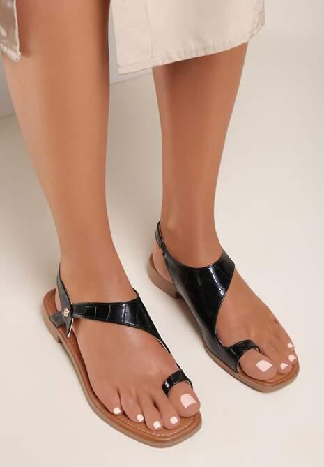Czarne Sandały Mystalise