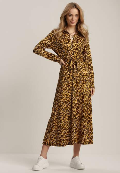 Żółta Sukienka Kisanise