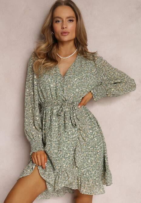 Jasnozielona Sukienka Messanea