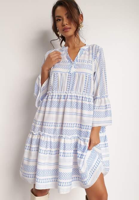 Niebieska Sukienka Kaliphelia