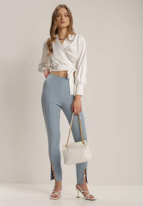 Jasnoniebieskie Spodnie Cygaretki Bathusi