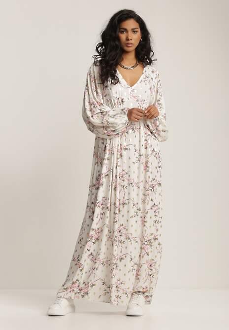 Biała Sukienka Amathiphite