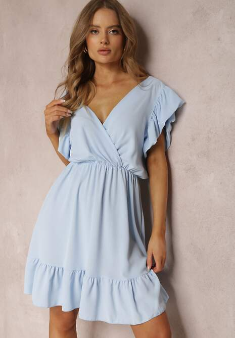 Niebieska Sukienka Silixie