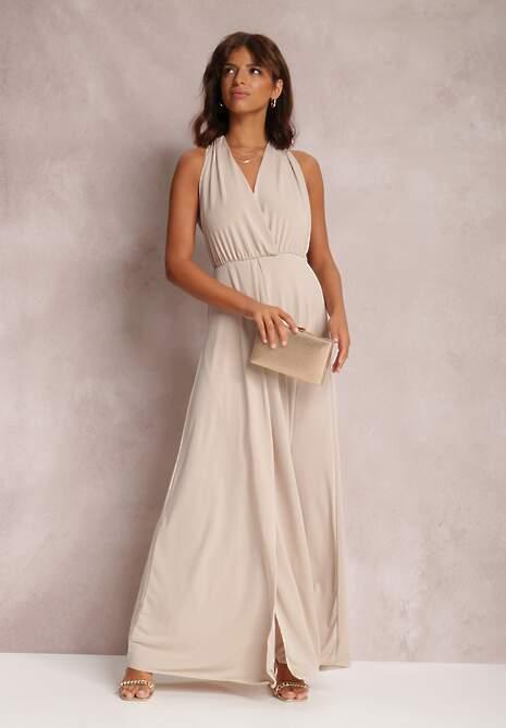 Beżowa Sukienka Lisohsa