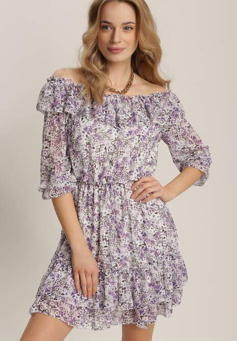 Liliowa Sukienka Meniphyse
