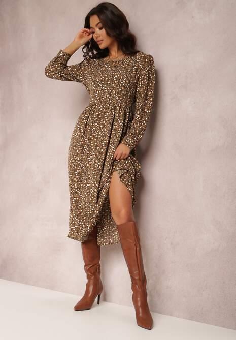 Brązowa Sukienka Palaleia