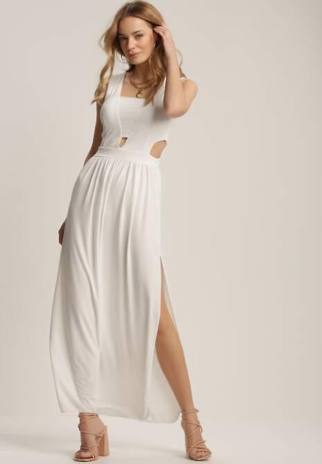 Biała Sukienka Crepheshi