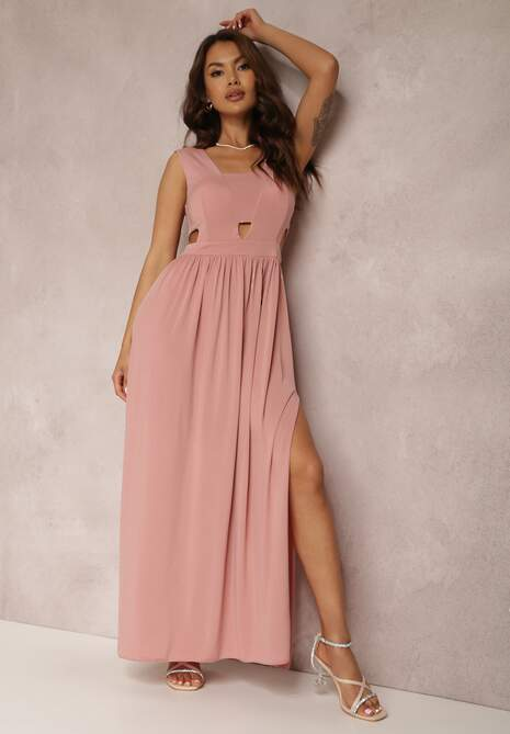 Łososiowa Sukienka Crepheshi