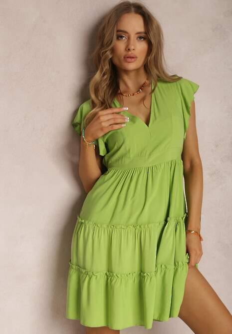 Jasnozielona Sukienka Anileia