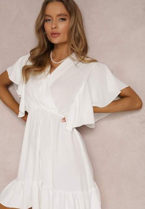 Biała Sukienka Clamei