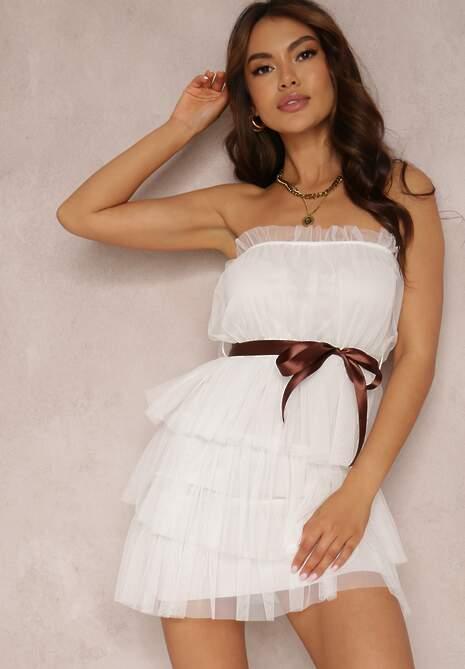 Biała Sukienka Lidanea