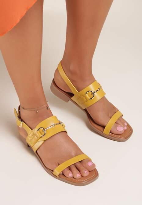 Żółte Sandały Thoniliana