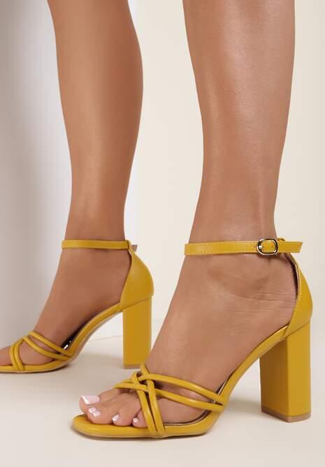 Żółte Sandały Thelanya