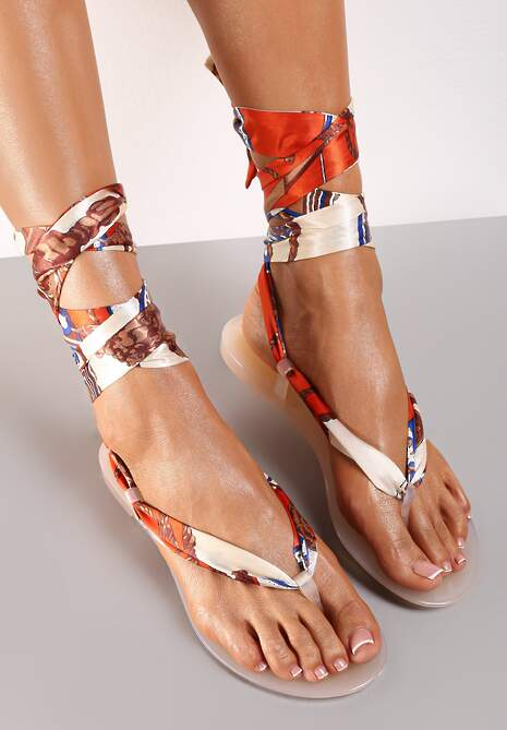 Beżowe Sandały Sagedice
