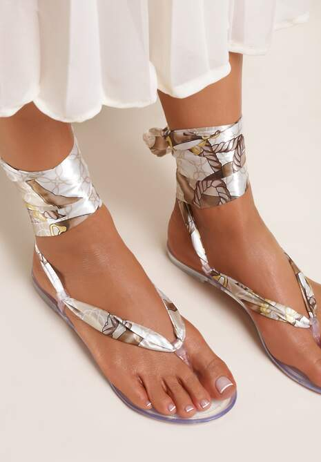 Srebrne Sandały Sagedice