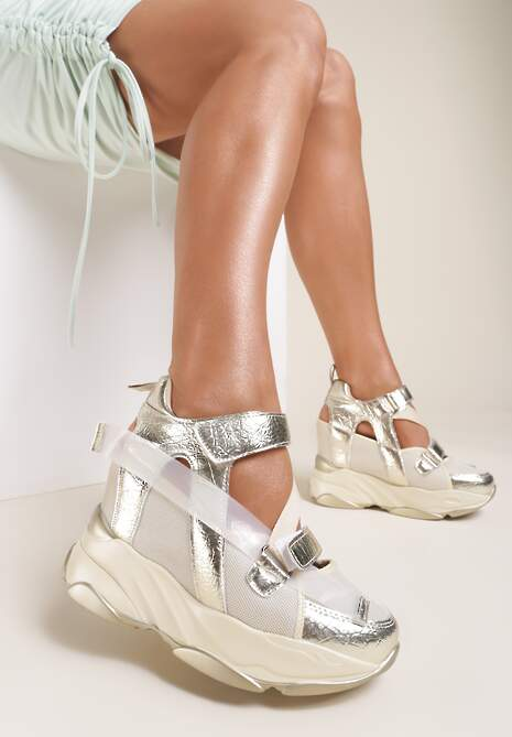 Złote Sneakersy Mellolise