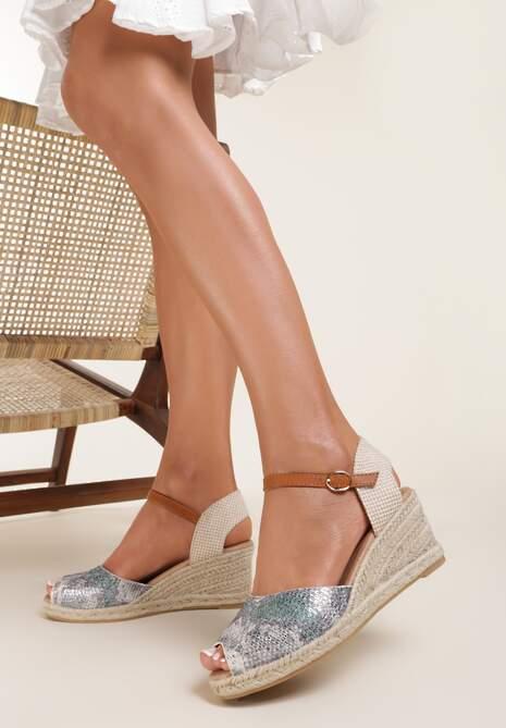 Beżowe Sandały Phalaemasos