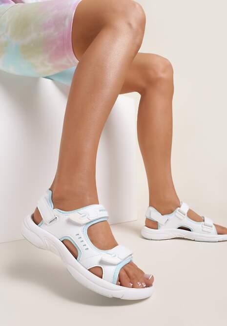 Biało-Niebieskie Sandały Thegale