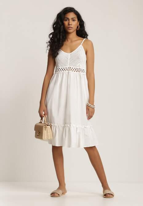 Biała Sukienka Ariereida