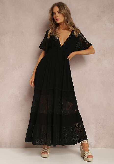 Czarna Sukienka Palanome