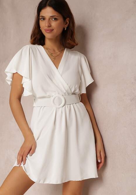 Biała Sukienka Cordeve