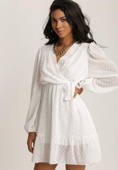 Biała Sukienka Savagale
