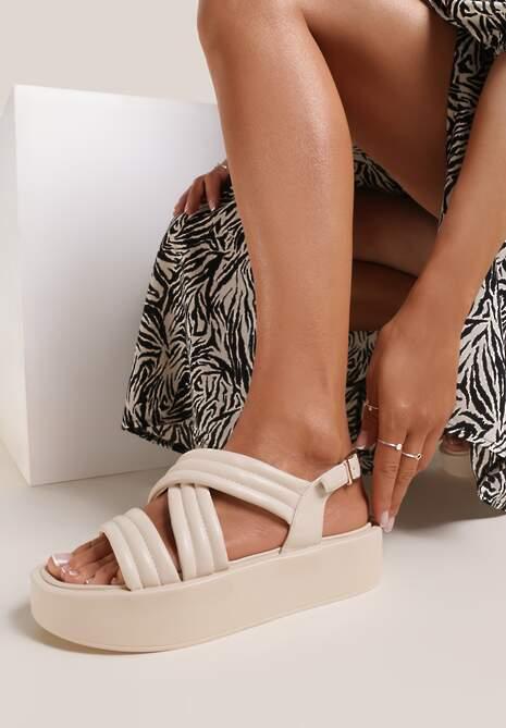 Beżowe Sandały Thessawai