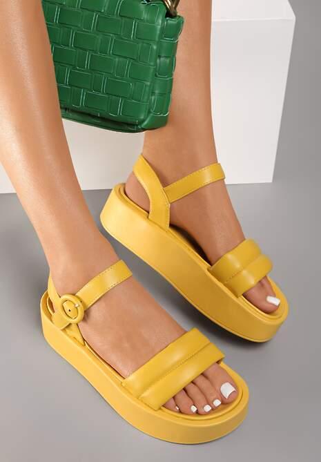 Żółte Sandały Larimisia