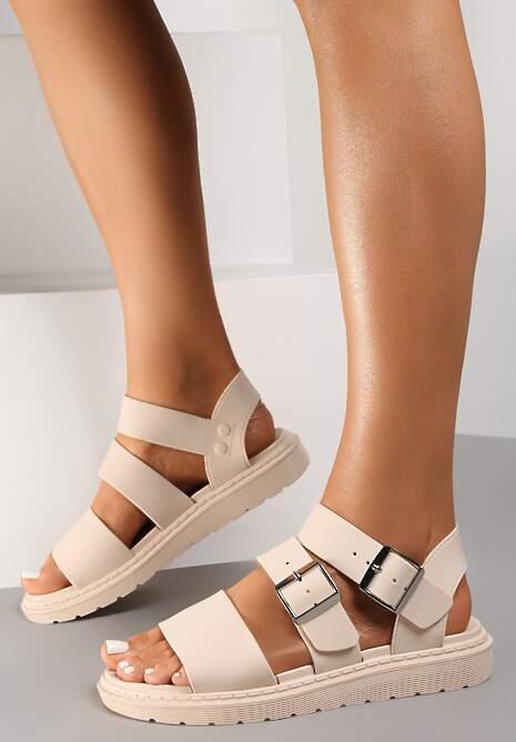 Beżowe Sandały Calocea