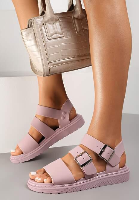 Liliowe Sandały Calocea
