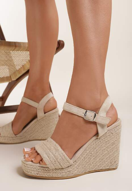 Beżowe Sandały Peshosa
