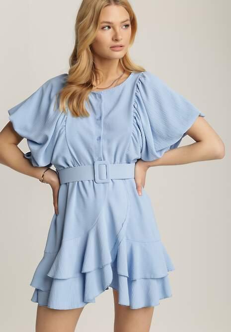 Niebieska Sukienka Rhenenea