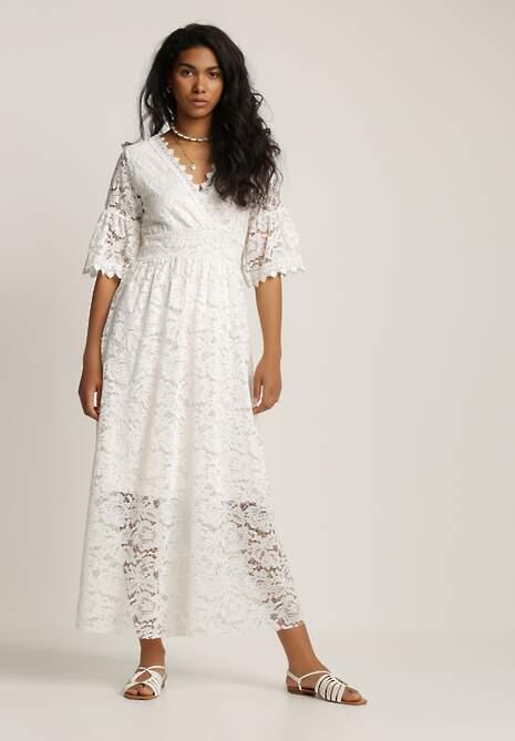 Biała Sukienka Phioriope