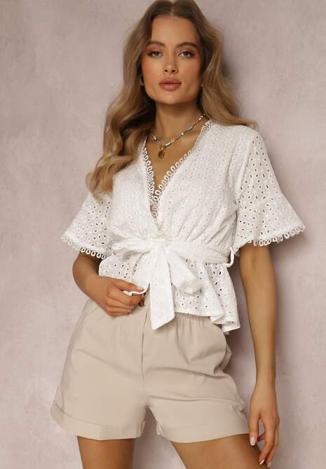 Biała Bluzka Euthisa