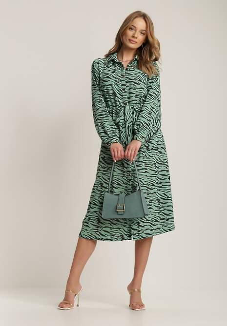 Zielona Sukienka Psalosise