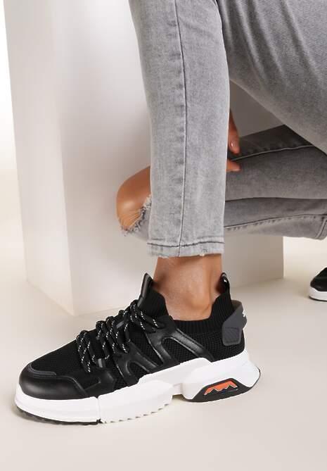 Czarne Buty Sportowe Kiseis