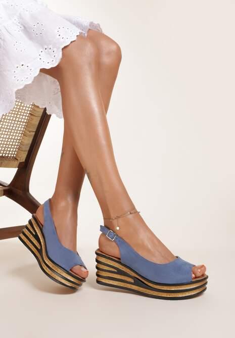 Niebieskie Sandały Phoishis