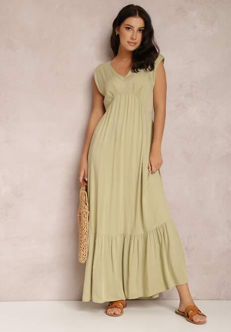 Jasnozielona Sukienka Theisithe