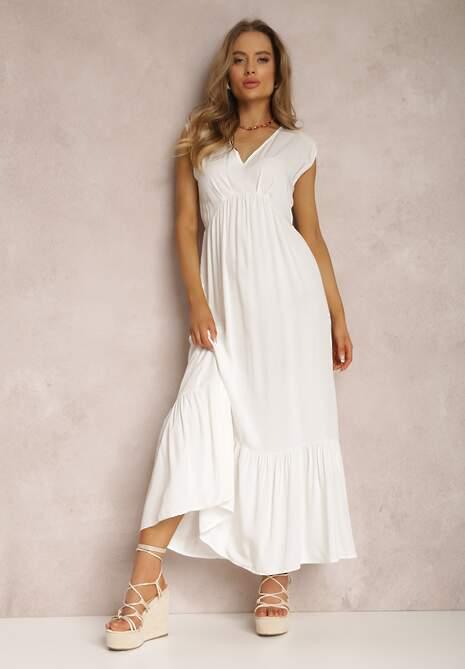 Biała Sukienka Theisithe