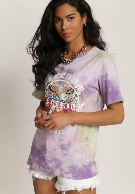 Liliowy T-shirt Taphophai