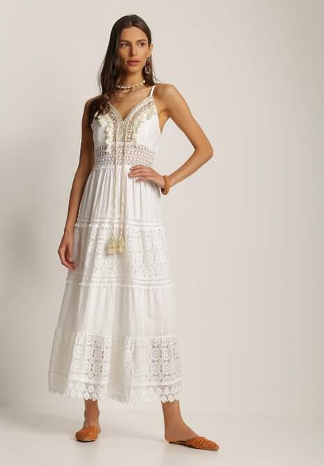 Biała Sukienka Thelithoe