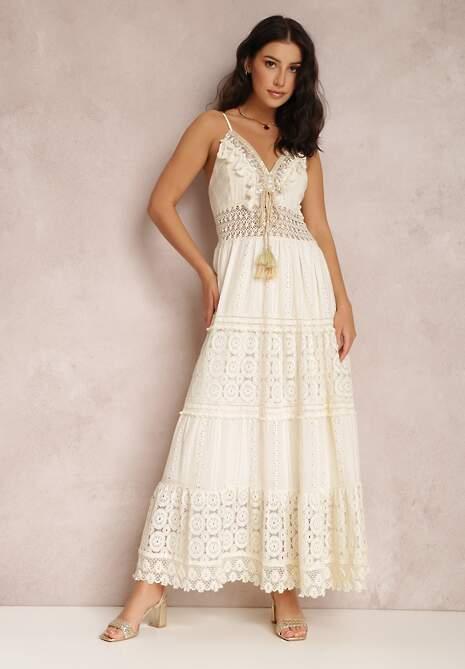 Jasnobeżowa Sukienka Thelithoe