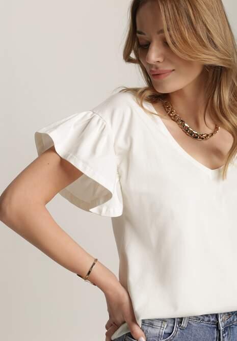 Biała Bluzka Phoeithe