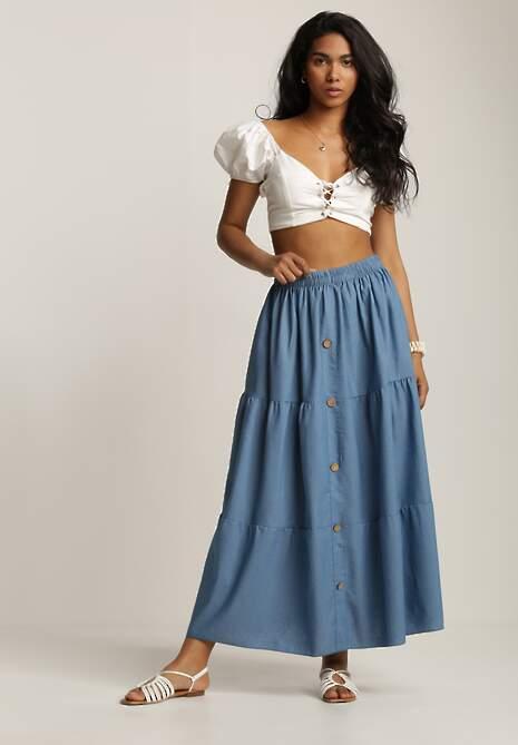 Niebieska Spódnica Sylphahria