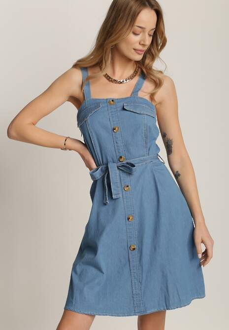Niebieska Sukienka Prixosia